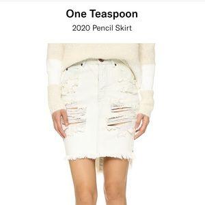One Teaspoon 2020 Pencil Skirt Le Creme 25
